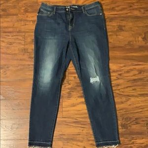 Old Navy rockstar high rise distressed jeans Sz 16